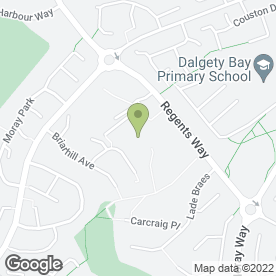 Map of Dalgety Bay Playgroup in Dalgety Bay, Dunfermline, fife