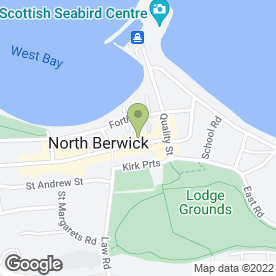 Map of Greggs in North Berwick, east lothian