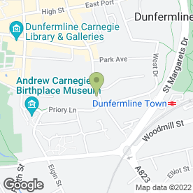 Map of Architectural Service in Dunfermline, fife