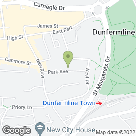 Map of The Abbeyfield Dunfermline Society Ltd, in Dunfermline, fife
