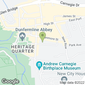 Map of Canmore Dental Practice in Dunfermline, fife