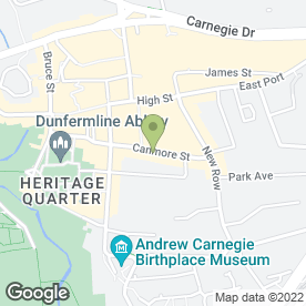 Map of Eyecatchers in Dunfermline, fife