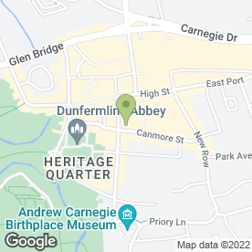 Map of Fabric - Drink & Dine in Dunfermline, fife
