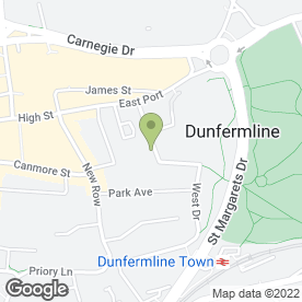 Map of J & E Shepherd in Dunfermline, fife