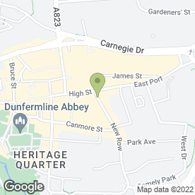 Map of Bonnar Accident Law Solicitors in Dunfermline, fife