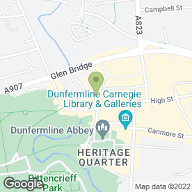 Map of Carpetland in Dunfermline, fife