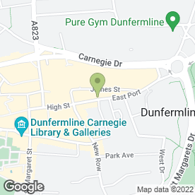 Map of R C Ferguson in Dunfermline, fife