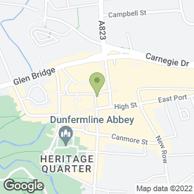 Map of Rileys Sports Bar in Dunfermline, fife
