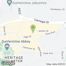 Map of Cailean Property Solutions Ltd in Dunfermline, fife