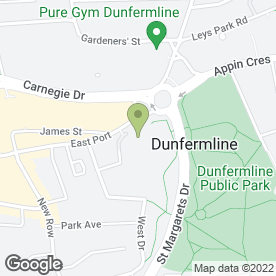 Map of Carnegie Hall in Dunfermline, fife