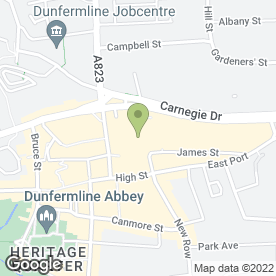 Map of Starbucks Coffee Co (UK) Ltd in Dunfermline, fife