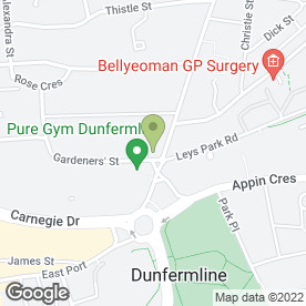 Map of National Tyres and Autocare in Dunfermline, fife