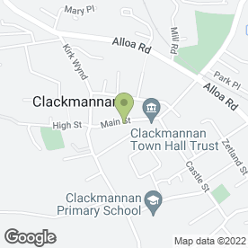 Map of Clackmannan P.O in Alloa, clackmannanshire
