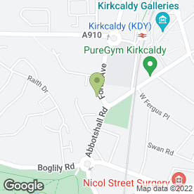 Map of Sally Salon Services in Kirkcaldy, fife