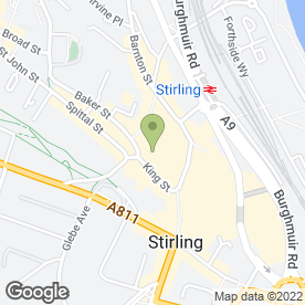 Map of Sportsters Bar & Diner in Stirling, stirlingshire