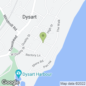 Map of Dysart P.O in Dysart, Kirkcaldy, fife