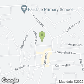 Map of Templehall Dental Practice in Kirkcaldy, fife
