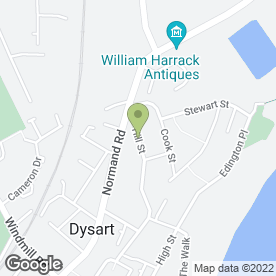 Map of Domestic Matters in Dysart, Kirkcaldy, fife