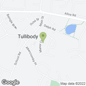 Map of Manor Crescent Dental Centre in Tullibody, Alloa, clackmannanshire