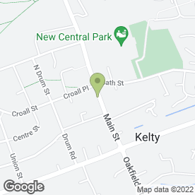 Map of The Art Centre in Kelty, fife