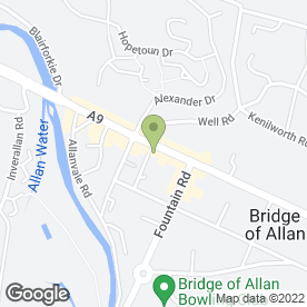 Map of Moss Florist in Bridge Of Allan, Stirling, stirlingshire