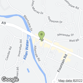 Map of Adamo - Bridge Of Allan in Stirling, stirlingshire