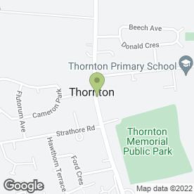 Map of Decorland in Thornton, Kirkcaldy, fife
