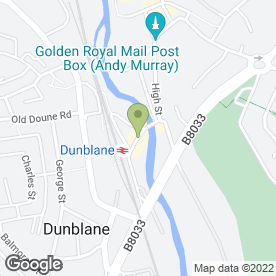 Map of Dunblane P.O in Dunblane, perthshire