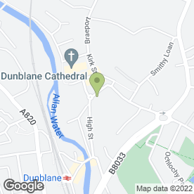 Map of Robert Paul Architects in Dunblane, perthshire