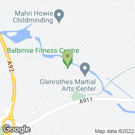 Map of Glenrothes Martial Arts in Woolmill Road, Glenrothes, Albume Park, fife