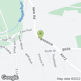 Map of R Hopkins in Falkland, Cupar, fife