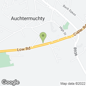 Map of BURNSIDE AUTO CENTRE in Auchtermuchty, Cupar, fife