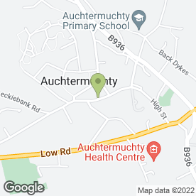 Map of Post Office Ltd in Auchtermuchty, Cupar, fife