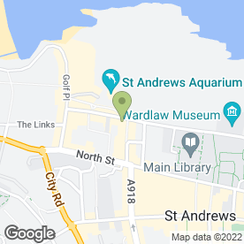 Map of ST. ANDREWS GOLF HOTEL in St. Andrews, fife