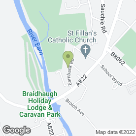 Map of Earnbank Solutions Ltd in Crieff, perthshire
