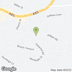 Map of Ancaster House Care Home in Crieff, perthshire