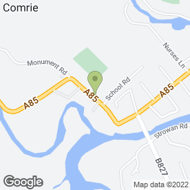 Map of Comrie Dental Practice in Comrie, Crieff, perthshire
