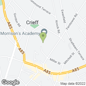 Map of Morrison's Academy in Crieff, perthshire