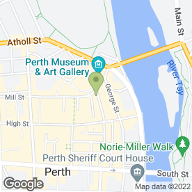 Map of Hidden Hearing Ltd in Perth, perthshire