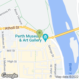 Map of The North Port Restaurant in Perth, perthshire