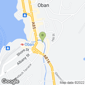 Map of ARK in Oban, argyll