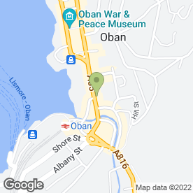 Map of Palace Hotel in Oban, argyll