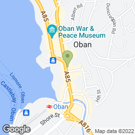 Map of Cuan Mor in Oban, argyll
