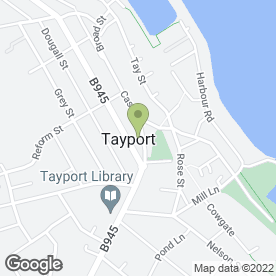 Map of Tayport Sub P.O in Tayport, fife