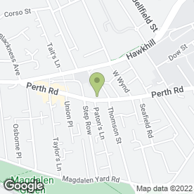 Map of Perth Rd P.O in Dundee, angus