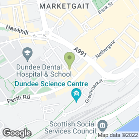 Map of Waracle Ltd in Dundee, angus