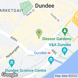 Map of The Club Bar in Dundee, angus
