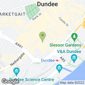 Map of JC Labs in Dundee, angus