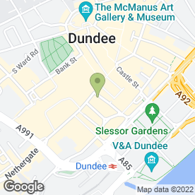 Map of Williamson Design Florist Ltd in Dundee, angus