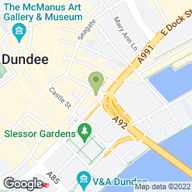 Map of Rama Thai Restaurant in Dundee, angus